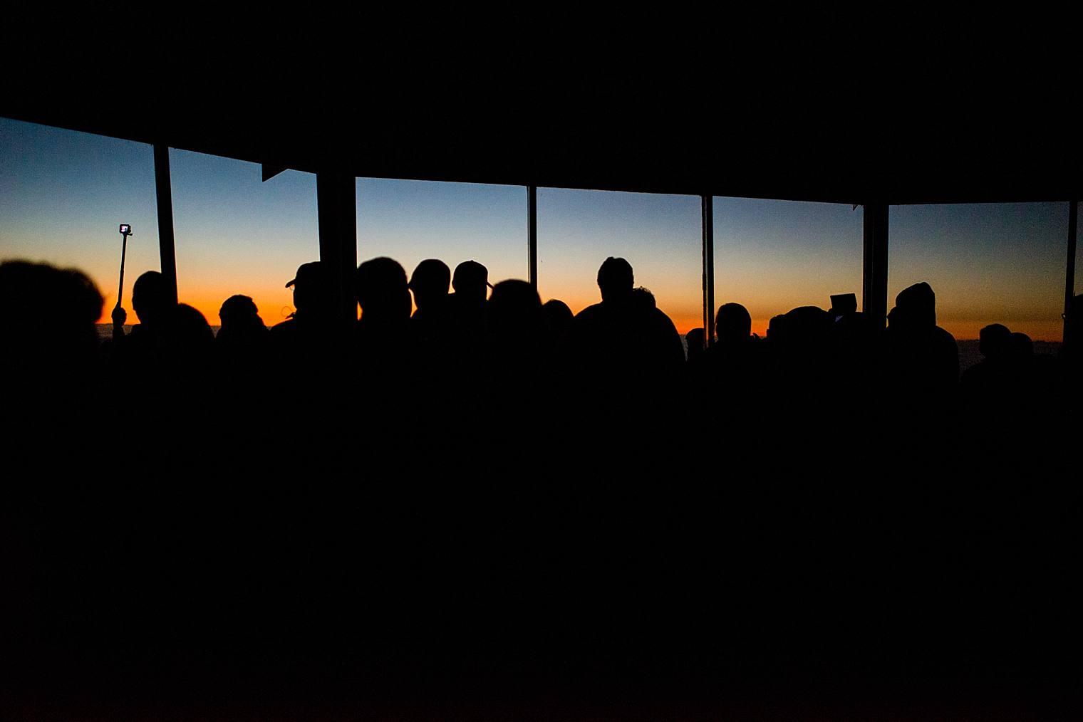waiting for sunrise on haleakala