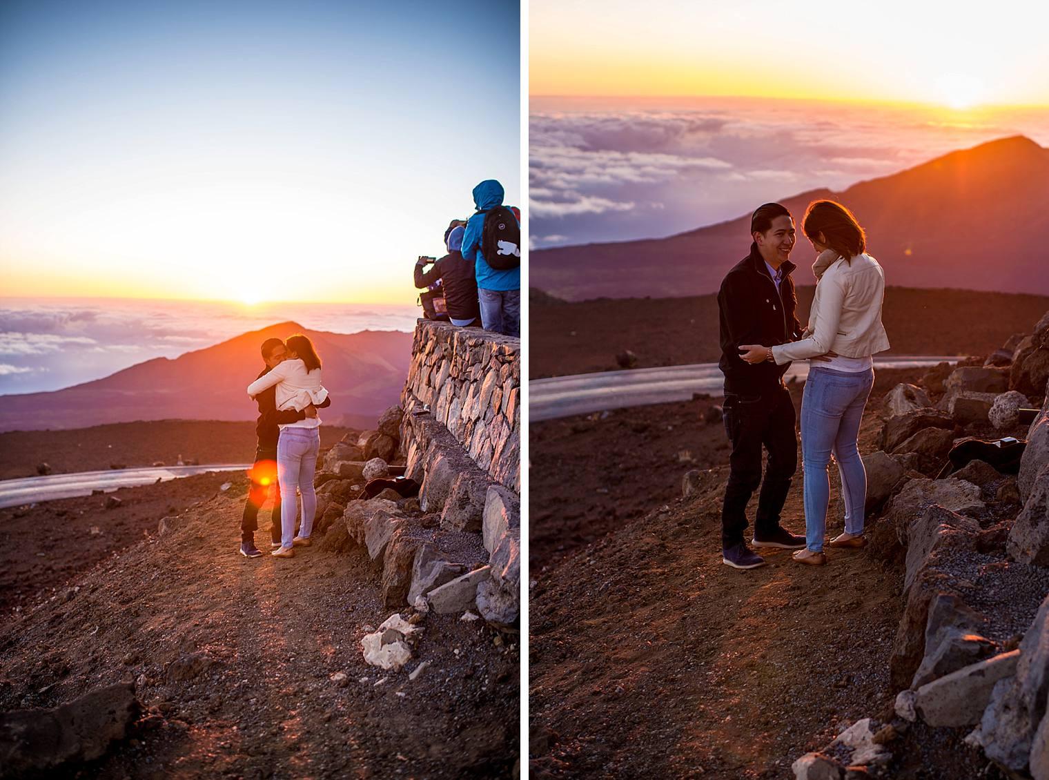Sunrise Haleakala Proposal - Maui Proposal Photographer_0012