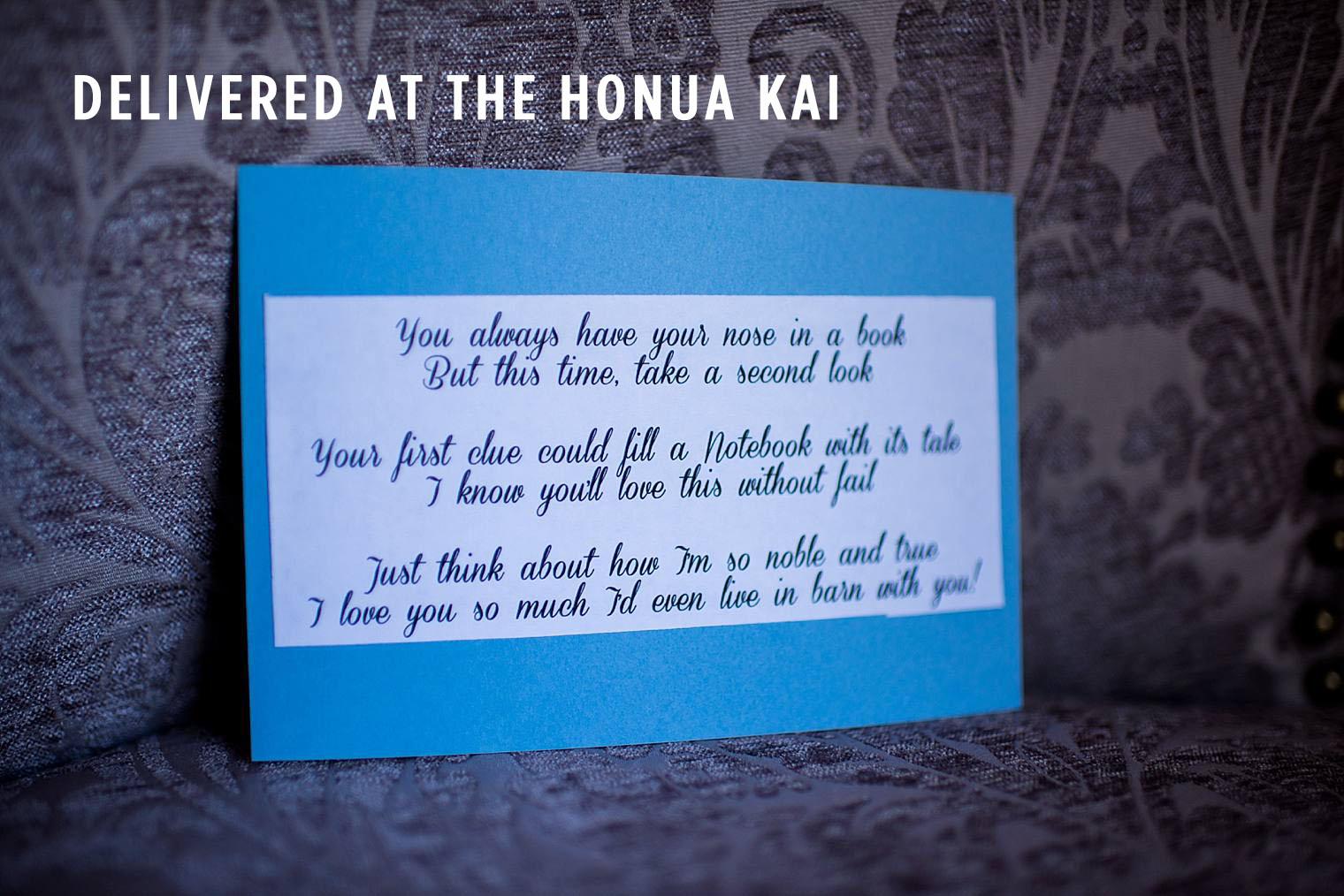 second clue for proposal scavenger hunt