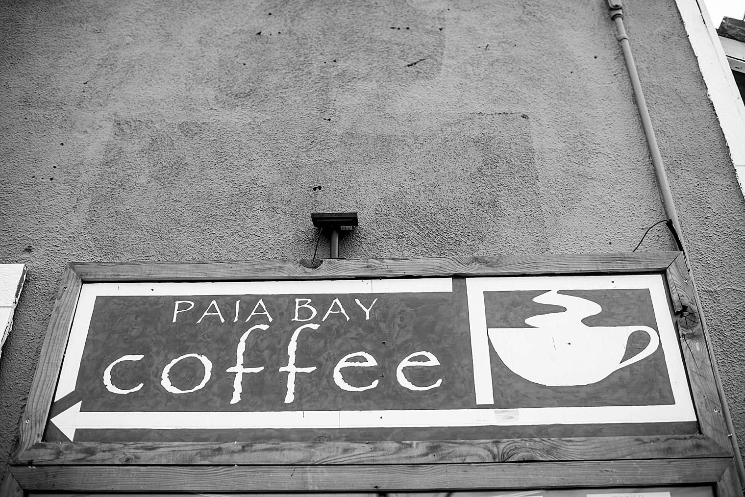 paia Bay Coffee sign