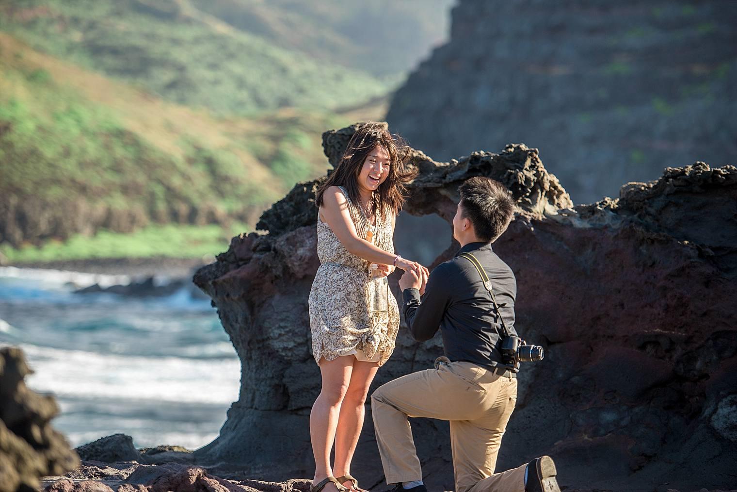 Maui Proposal at Nakalele Blowhole