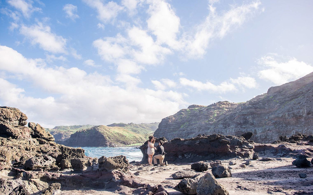Maui Proposal at Nakalele Blowhole | Maui Engagement Photographer