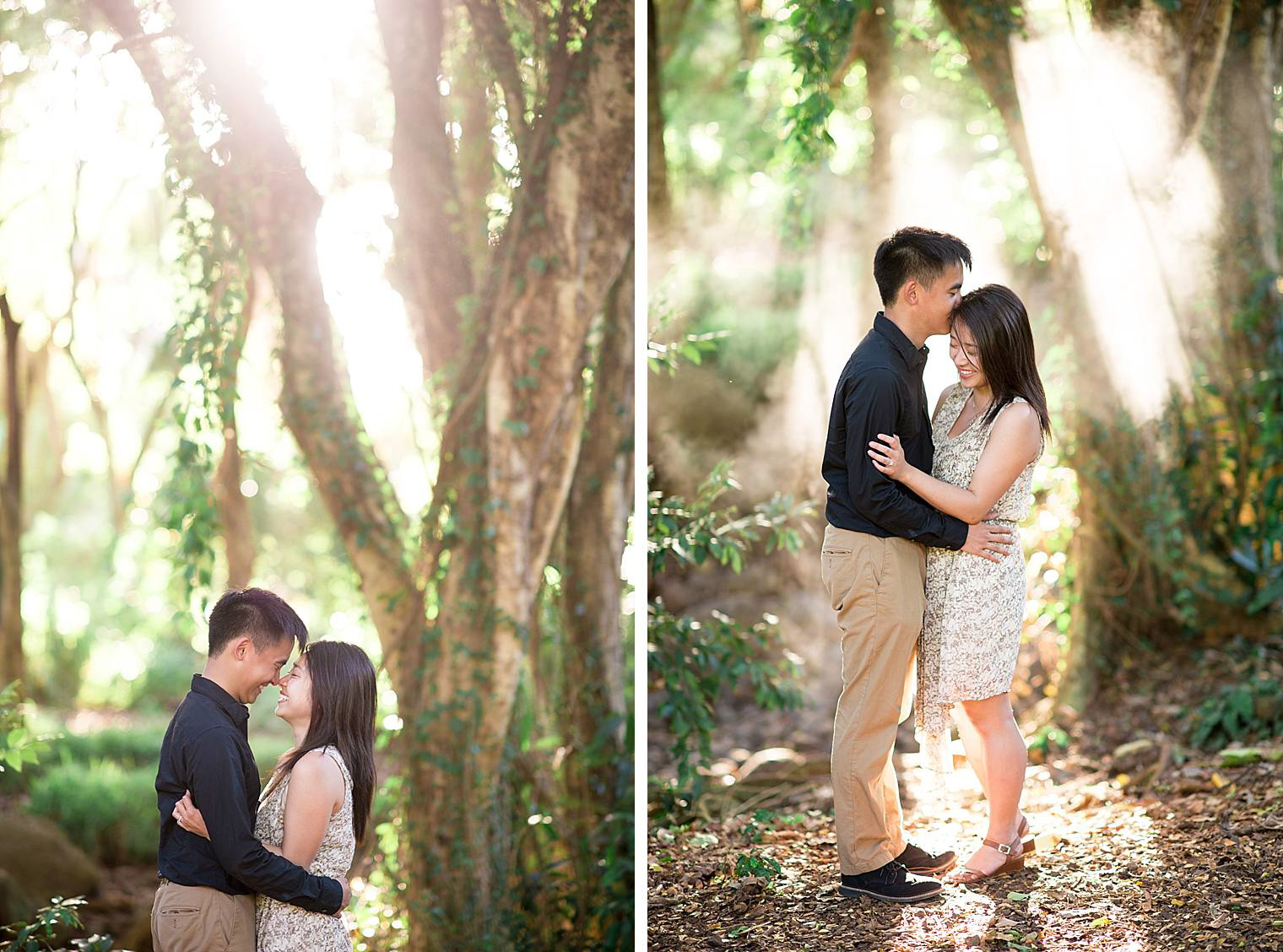 jungle engagement session in maui, hawaii