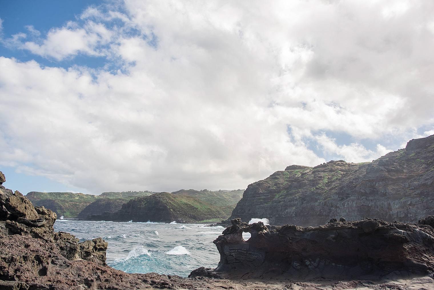 Nakalele blowhole in maui, hawaiii
