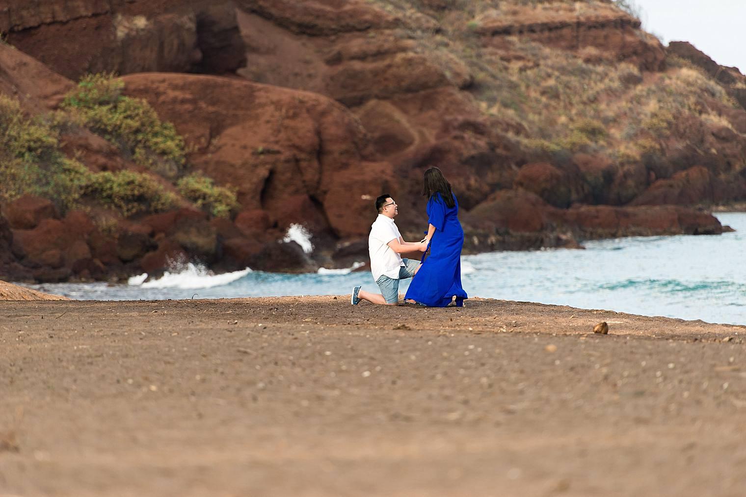 Maui Surprise Proposal Photographer - Black Sand Beach_0007