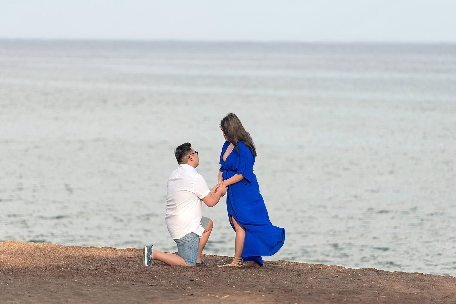 Maui Surprise Proposal Photographer - Black Sand Beach_0009