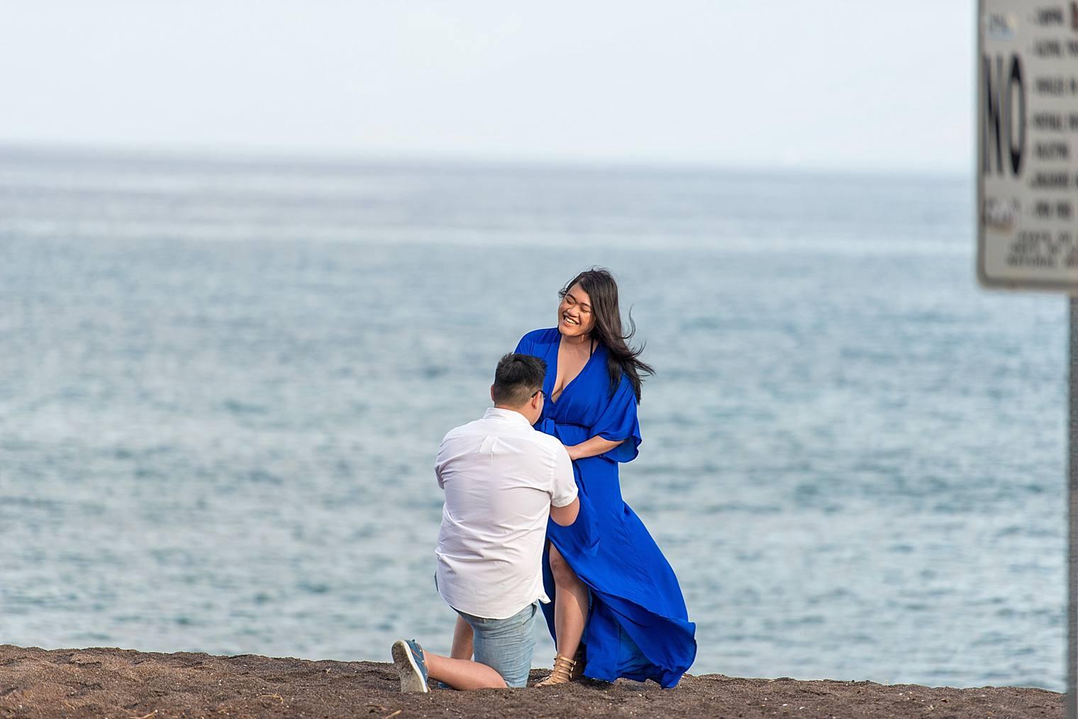 Maui Surprise Proposal Photographer - Black Sand Beach_0010