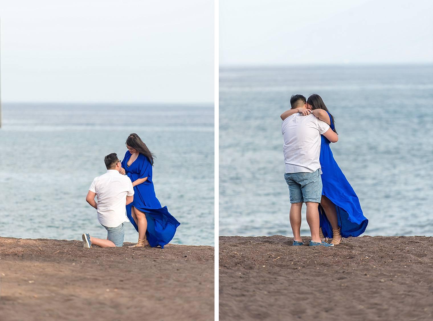 Maui Surprise Proposal Photographer - Black Sand Beach_0011