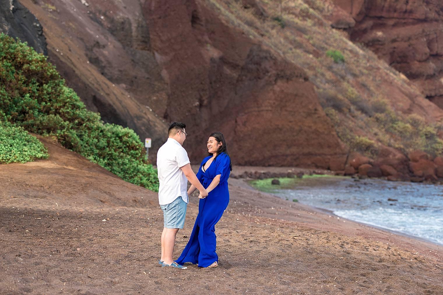 Maui Surprise Proposal Photographer - Black Sand Beach_0013
