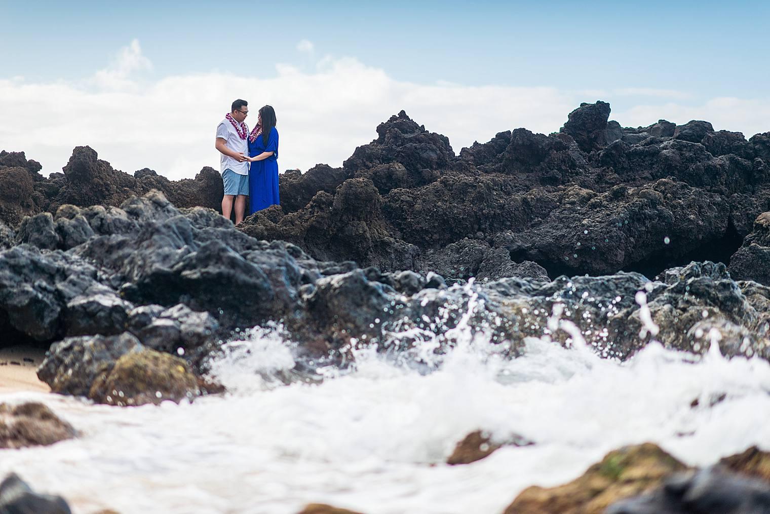 Maui Surprise Proposal Photographer - Black Sand Beach_0020