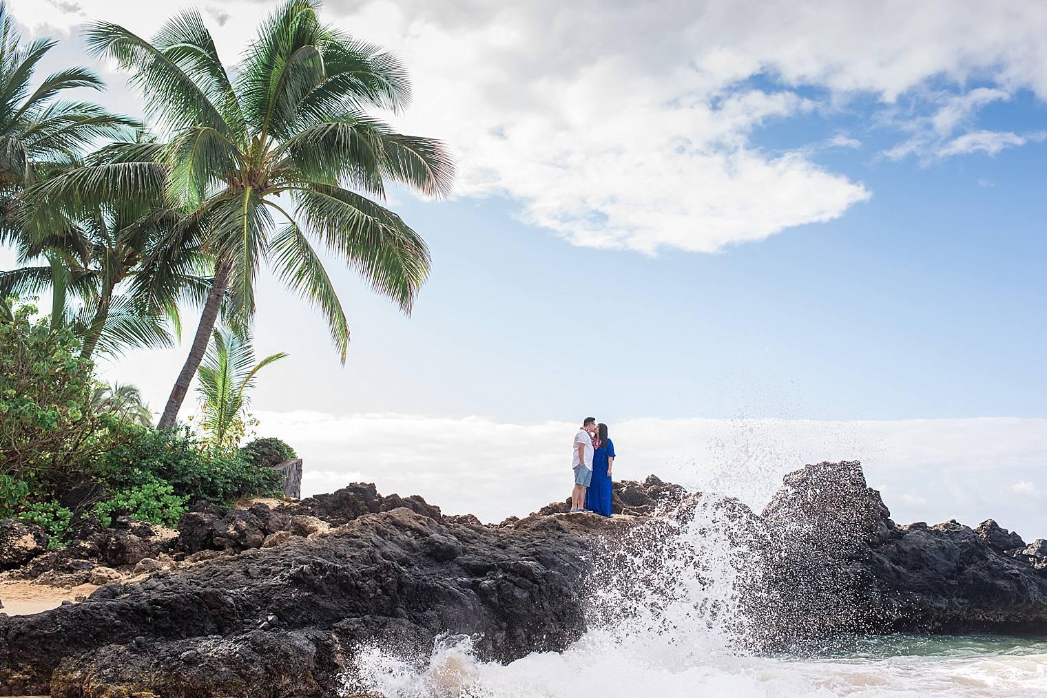Maui Surprise Proposal Photographer - Black Sand Beach_0022