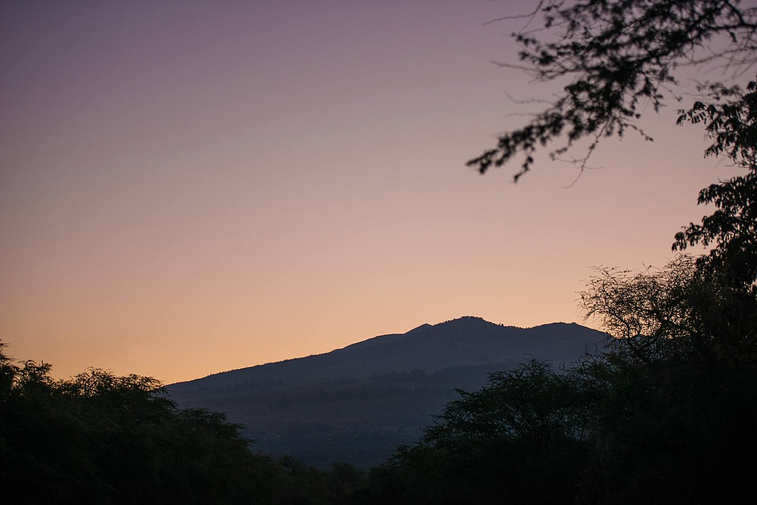 sunrise in makena, maui, hawaii