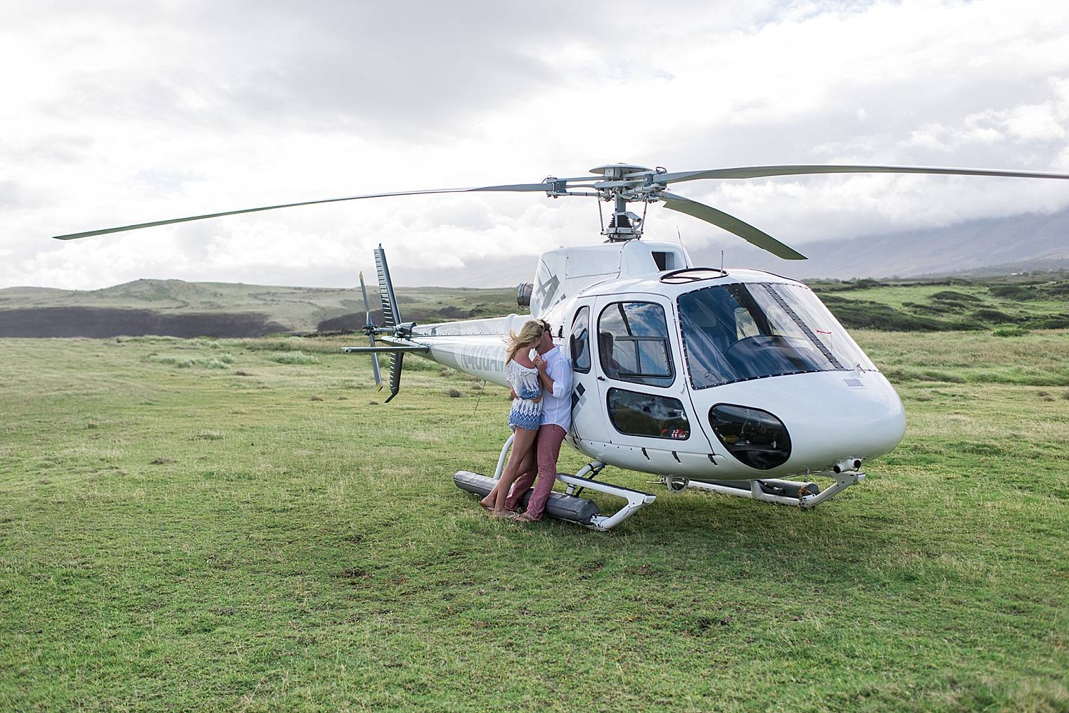 Helicopter proposal in Maui, hawaii