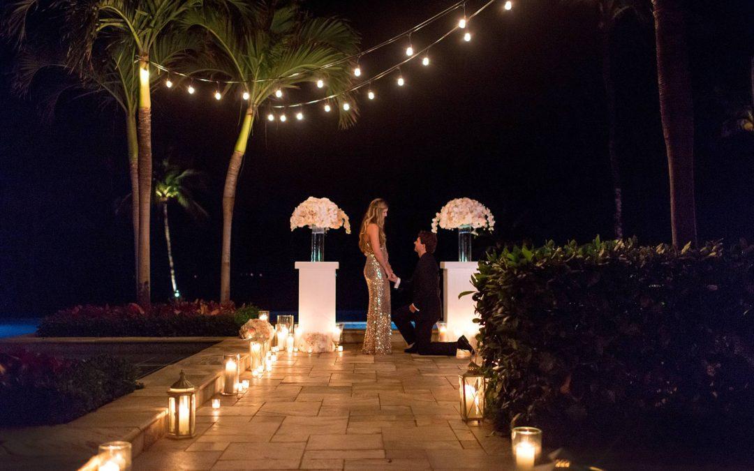 Four Seasons Maui Candlelit Proposal | Heather + Josh