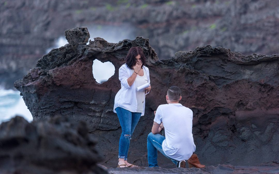 Maui Sunset Proposal at Blowhole | Scott + Whitney