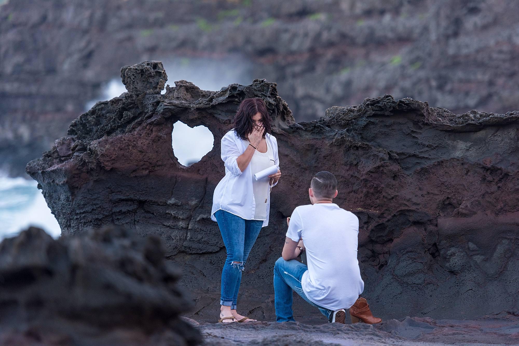 maui proposal at the blowhole