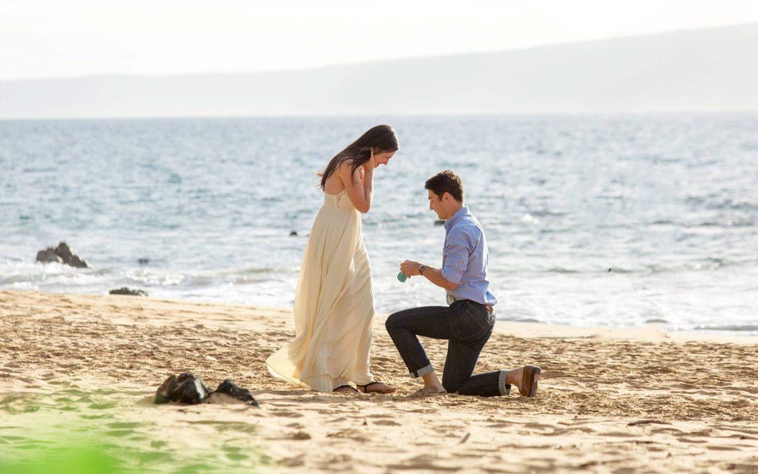 Private Maui Beach Proposal | Isaac + Brooke