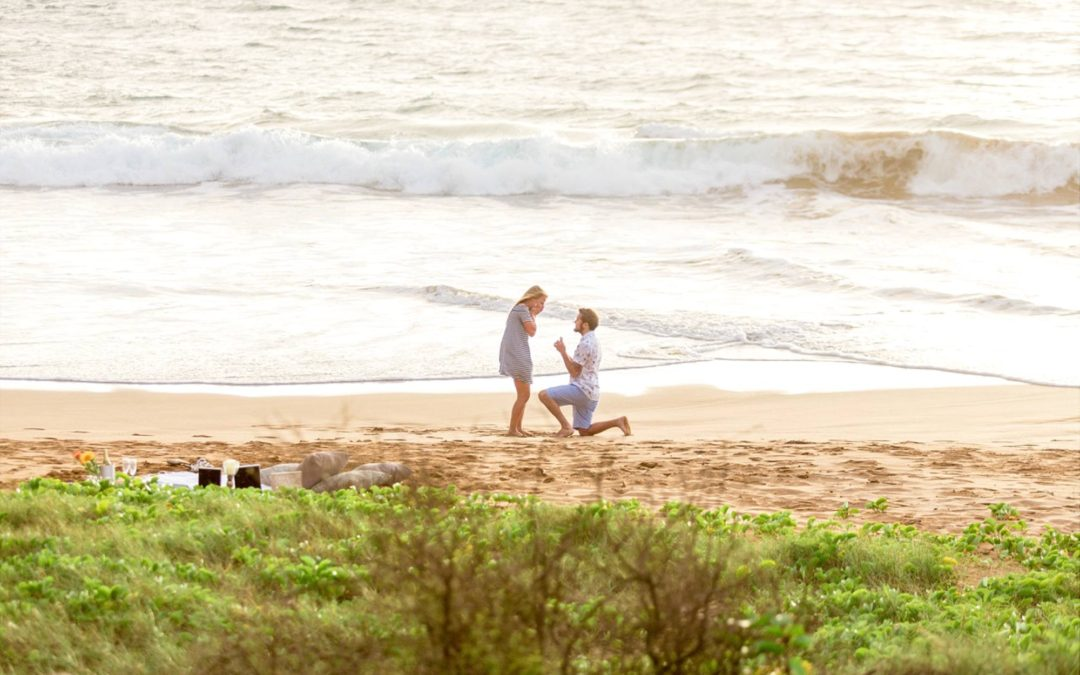 Romantic Beach Picnic Proposal | Cody + Alexus