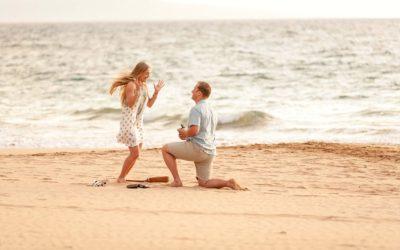 Wide Open Beach Sunset Proposal | Alex + Hannah