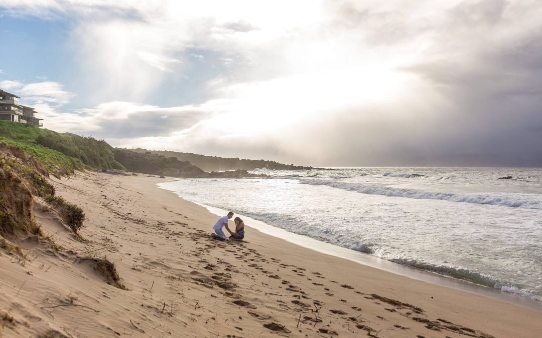 Wide Open Beach Proposal in West Maui | Dave + Rianna