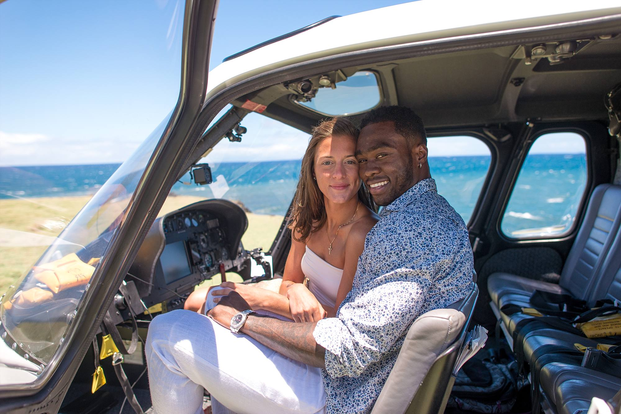Maui Helicopter Proposal with Patriots Wide Receiver Brandin Cooks