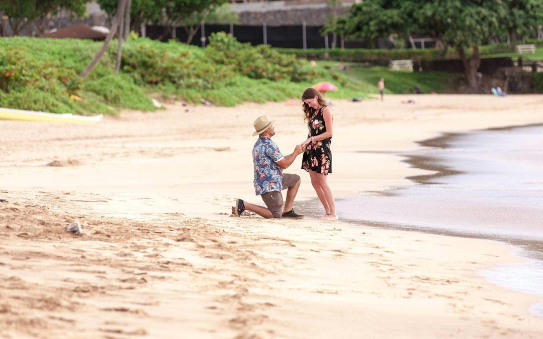 Romantic Maui Beach Proposal   Emmanuel + Lennea