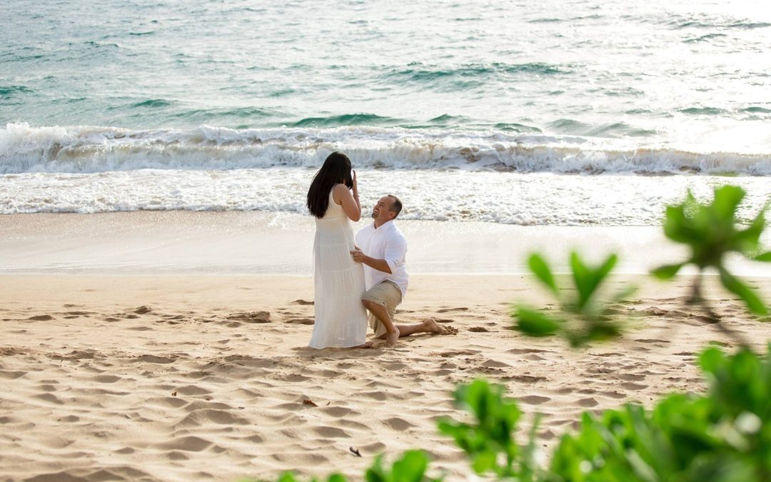 Gorgeous South Maui Proposal | Bradley + Frazell