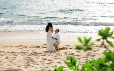 Gorgeous South Maui Proposal | Bradley + Frazell