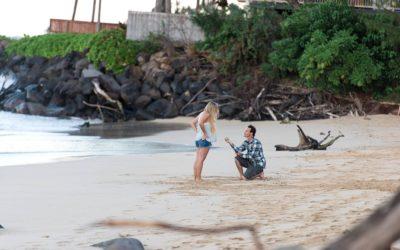 Last Minute Maui North Shore Beach Proposal | Mikey + Caitlin