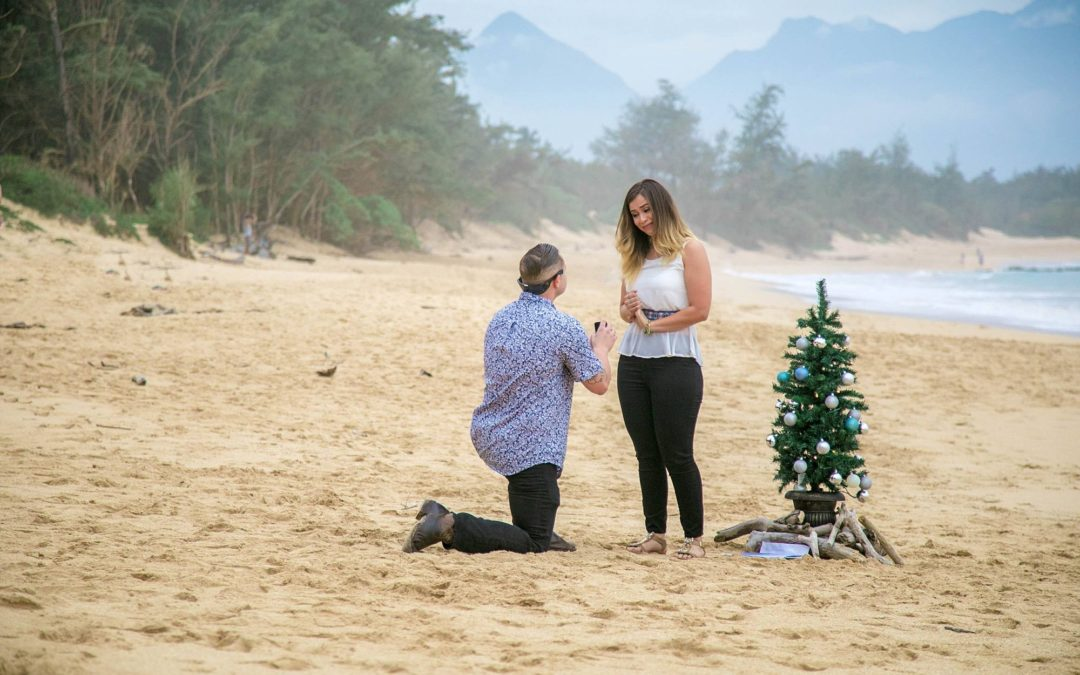 Magical Christmas Proposal on Maui's North Shore | Russell + Diana