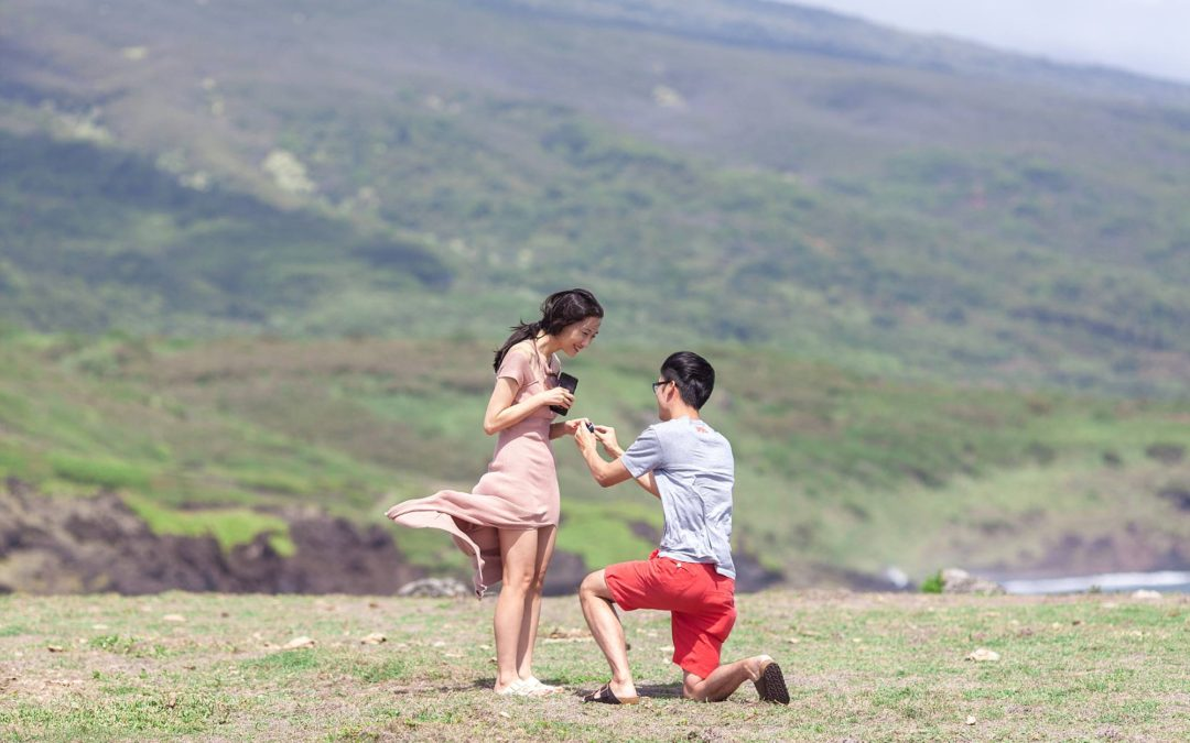 Maui Waterfalls and Rainbows Helicopter Proposal   Chen + Mia