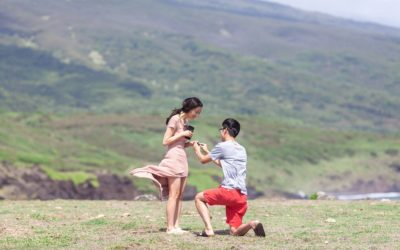 Maui Waterfalls and Rainbows Helicopter Proposal | Chen + Mia