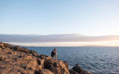 Incredible Cliffside Sunset Proposal on Maui | Adin + Mika