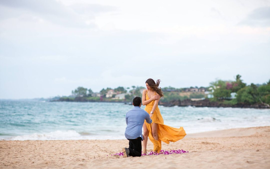 Maui White Sand Beach and Orchid Circle Proposal | Eshan + Danielle