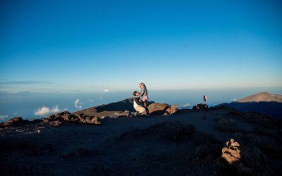 Stunning Haleakala Sunset Proposal | Steve + Brooke