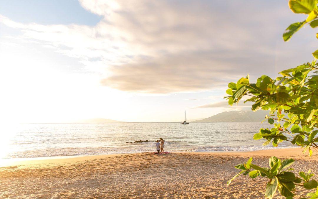 Ukulele Beach Proposal in Wailea | Jack + Christine