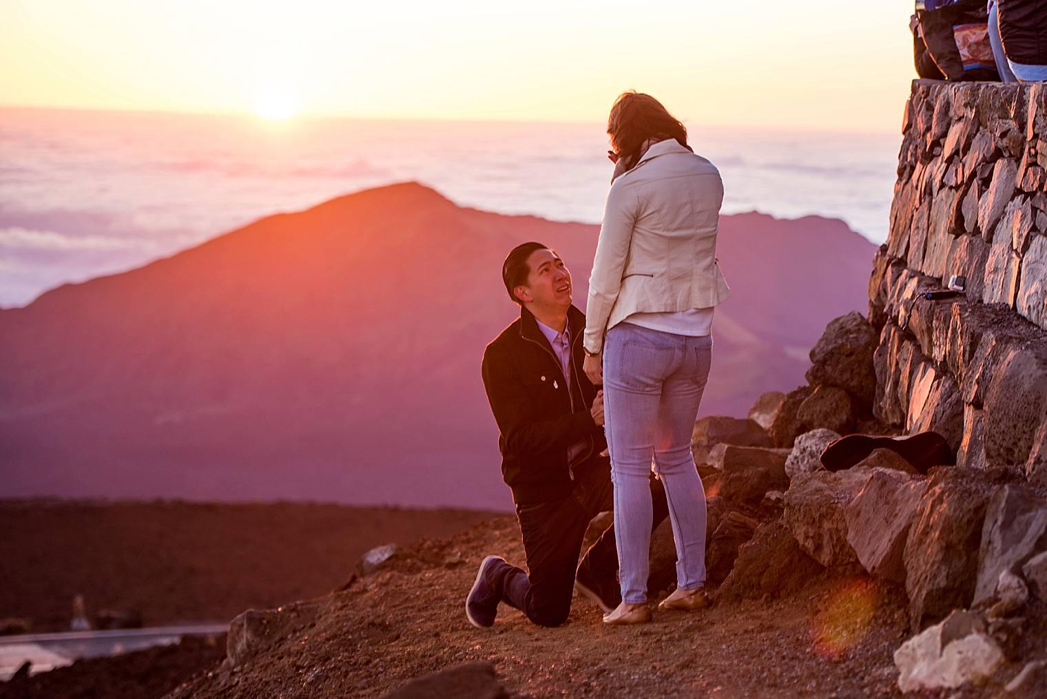 Al + Cristina  | Haleakala Sunrise Proposal in Maui, Hawaii