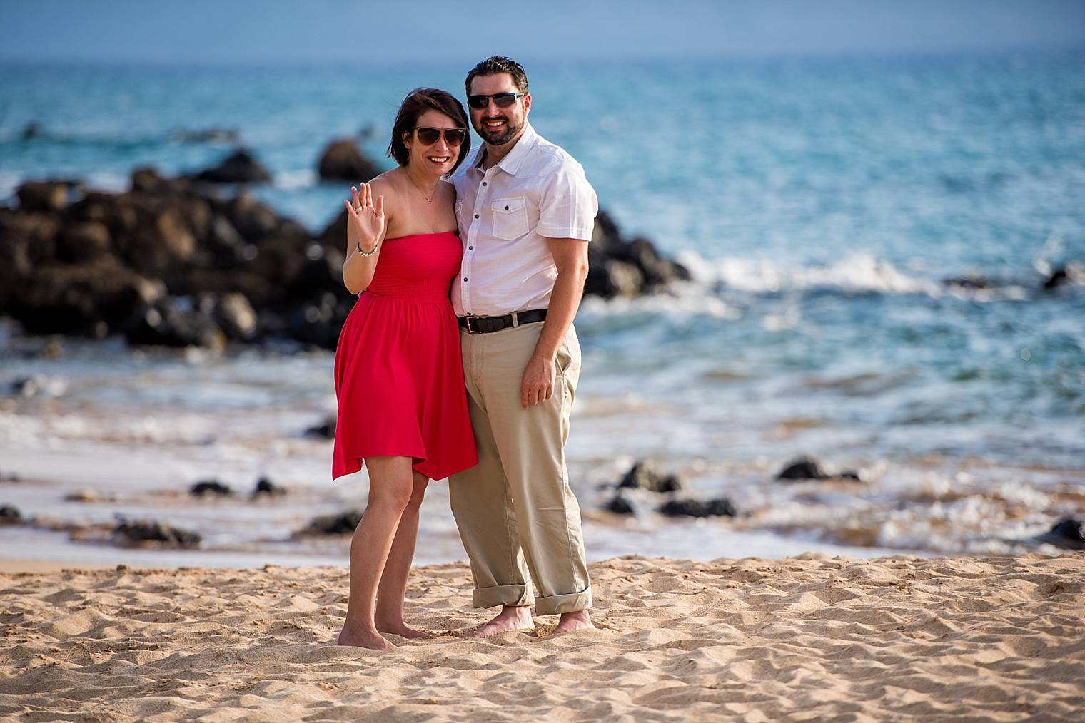 just after getting engaged on maui