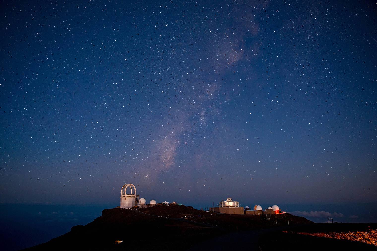 star gazing at Haleakala National Park