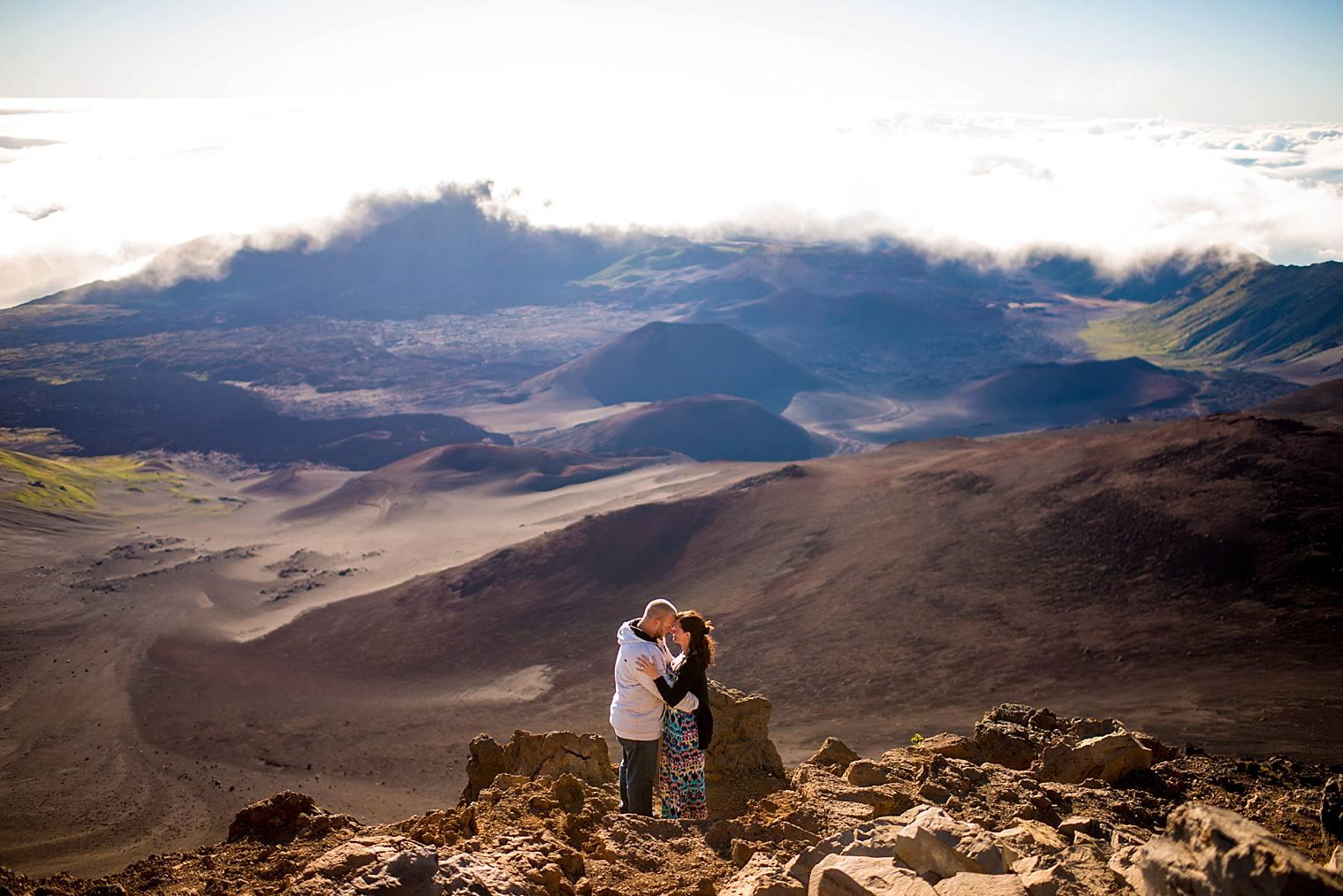 Haleakala's crater in Maui, Hawaii