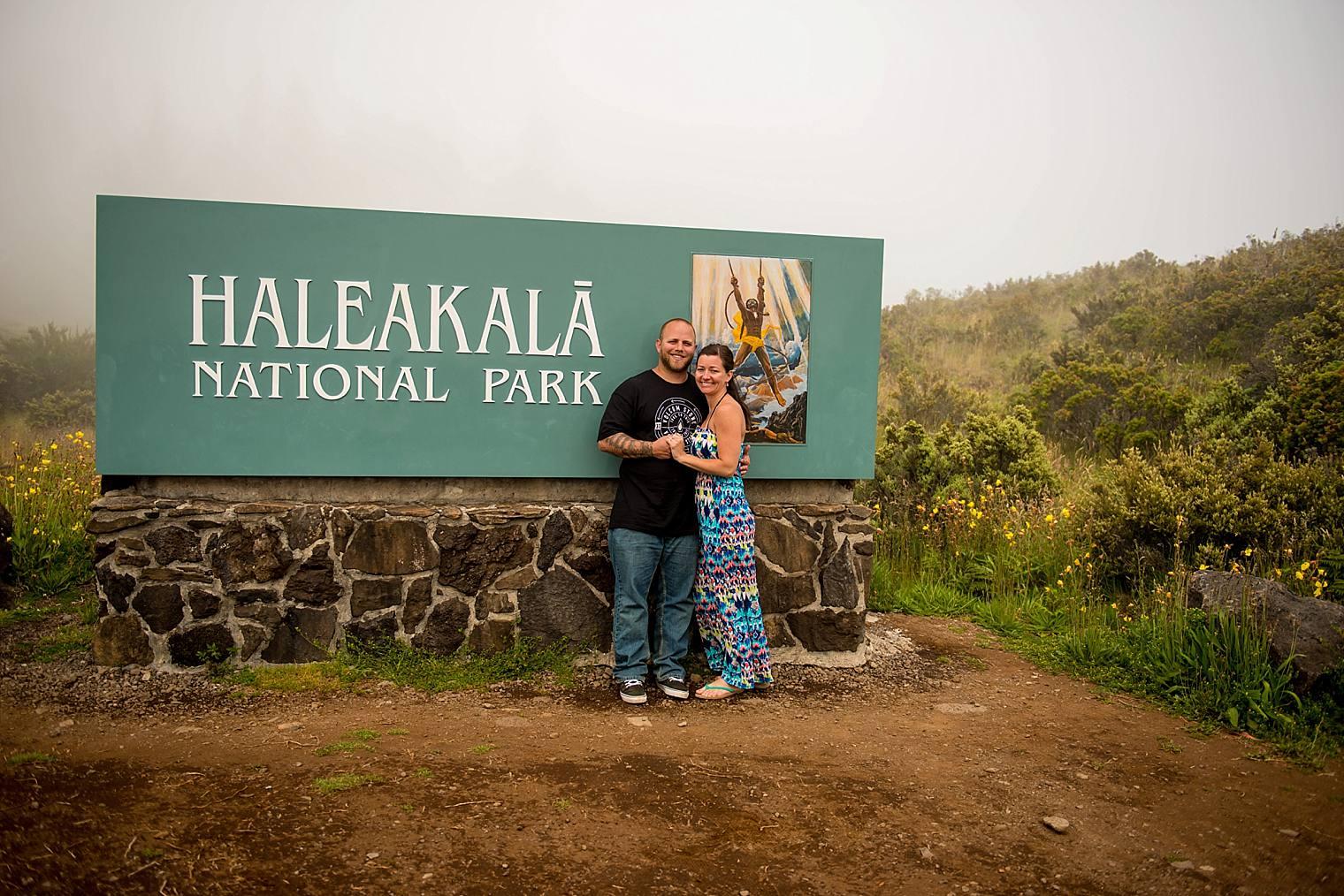 haleakala national park sign