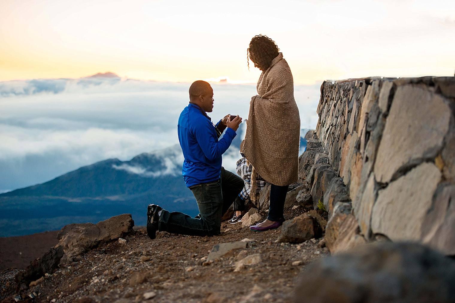 Prosbert + Giselle | Haleakala Sunrise Proposal Photographer