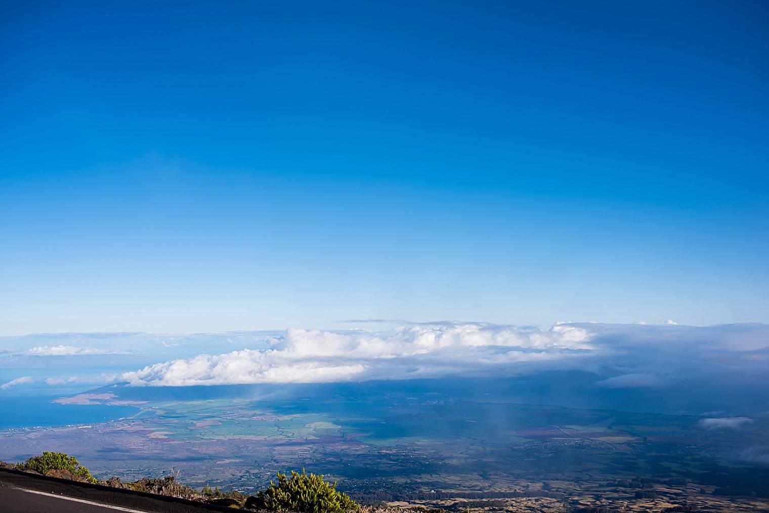 view of Maui from haleakala