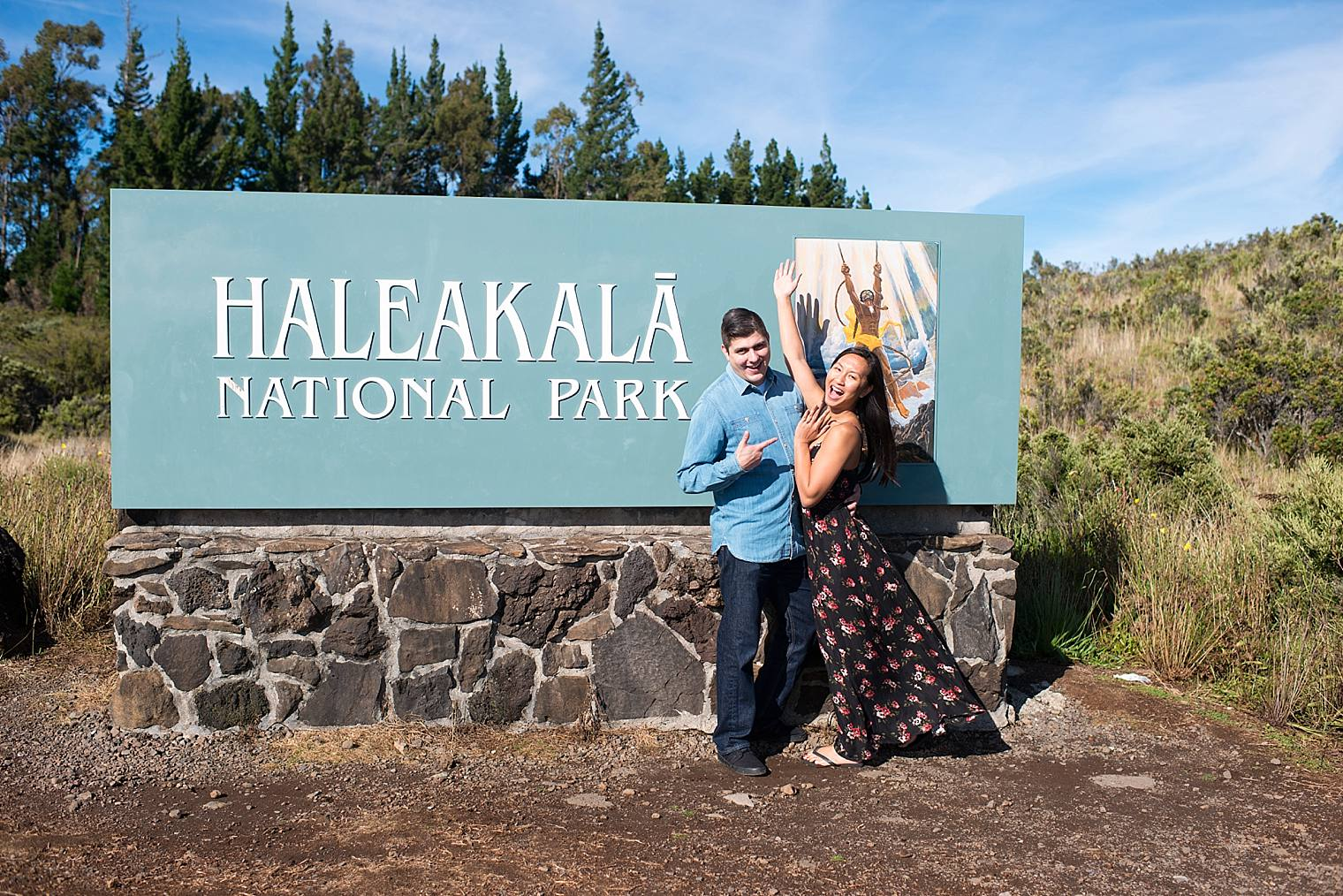 engaged on haleakala
