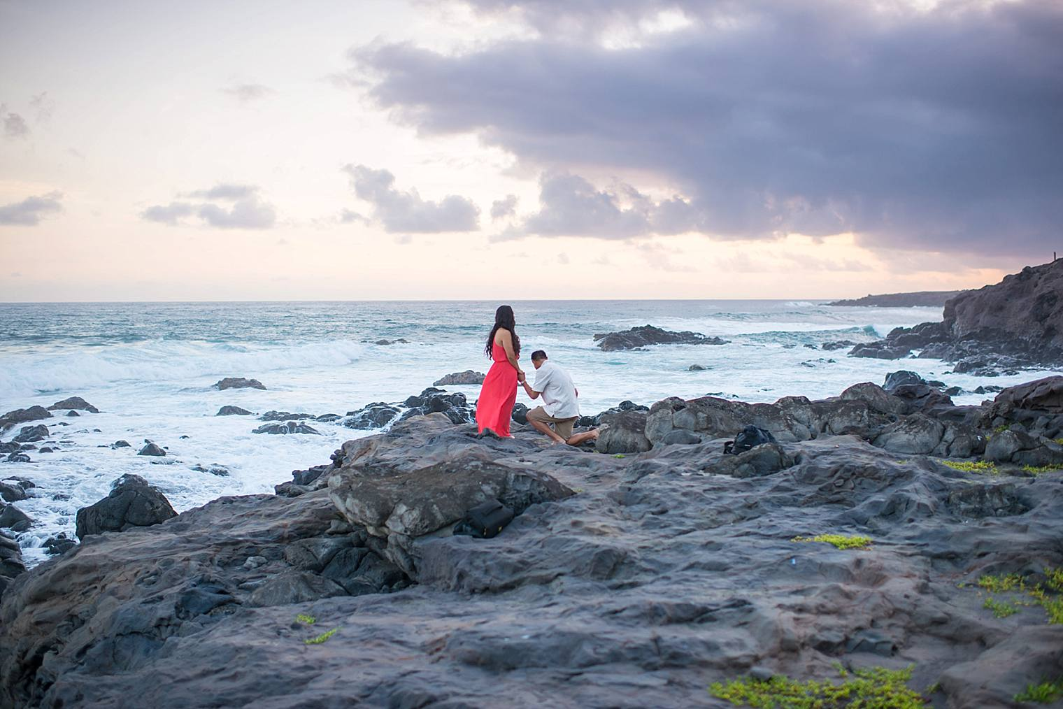 sunrise cliff proposal in maui, hawaii