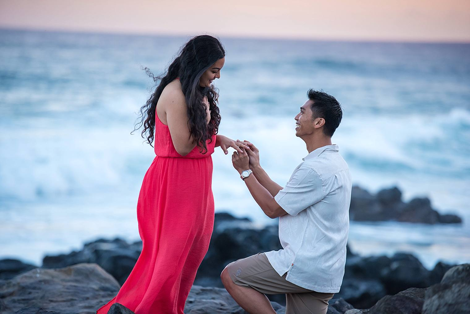 putting ring on finger after cliffside proposal