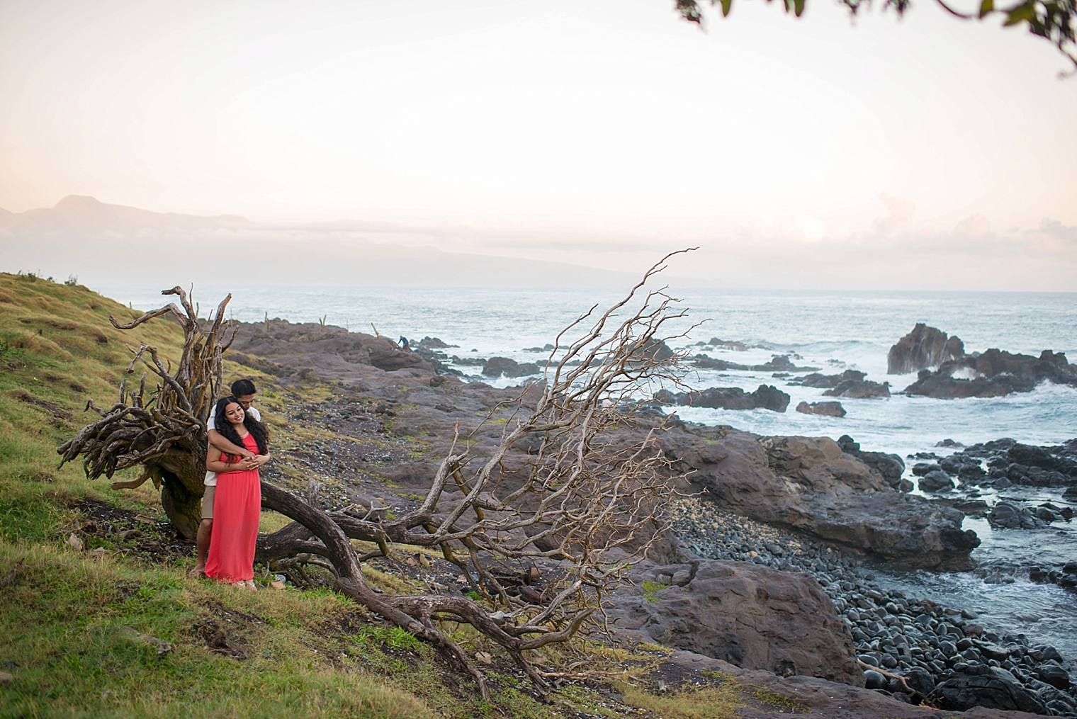 North shore engagement photos maui