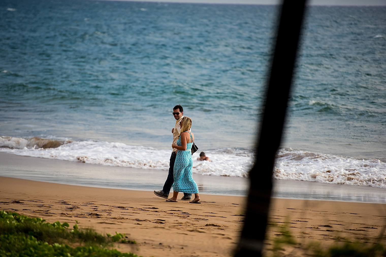 guy and girl walking to proposal site
