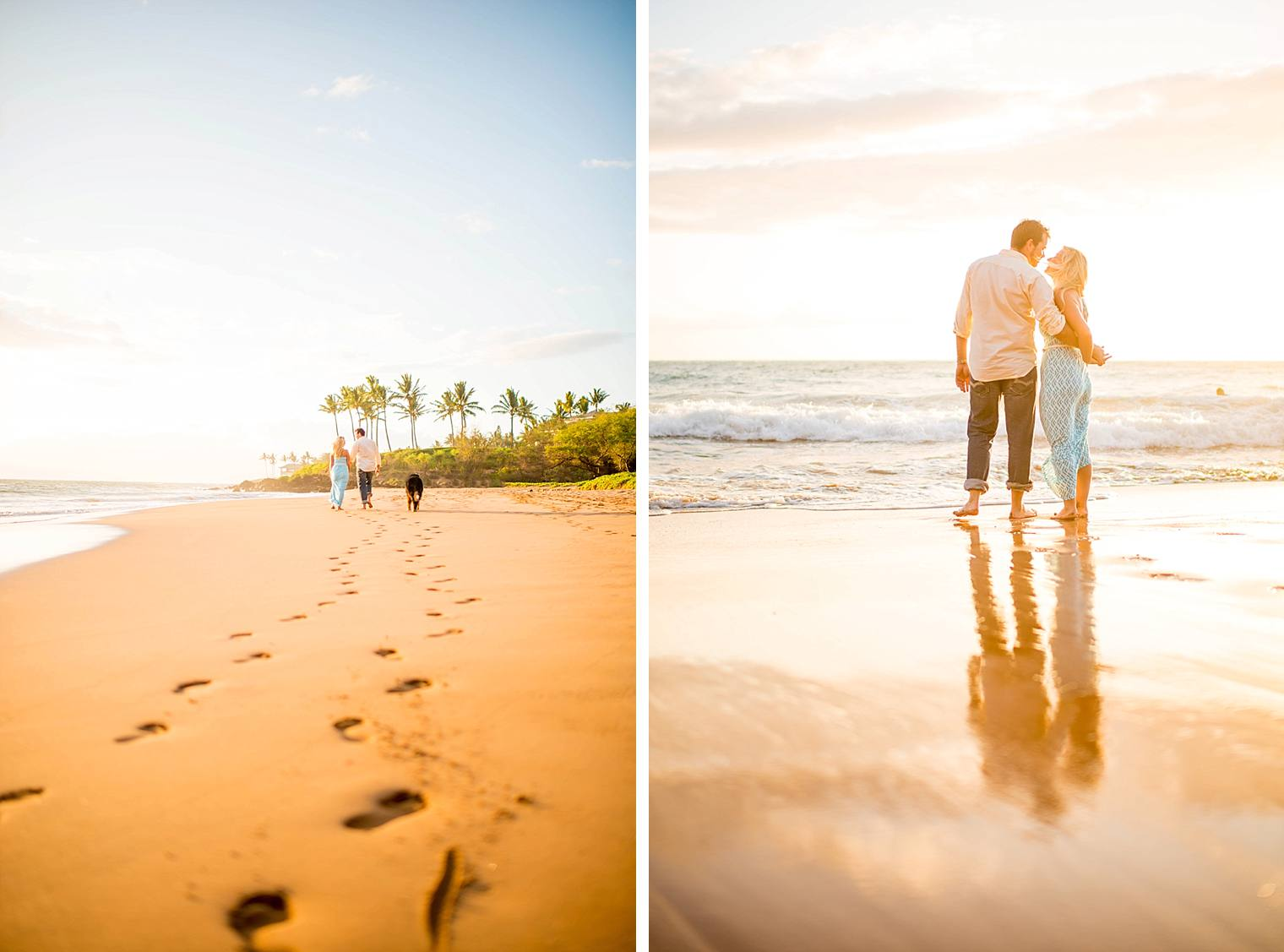 walking on the beach in maui