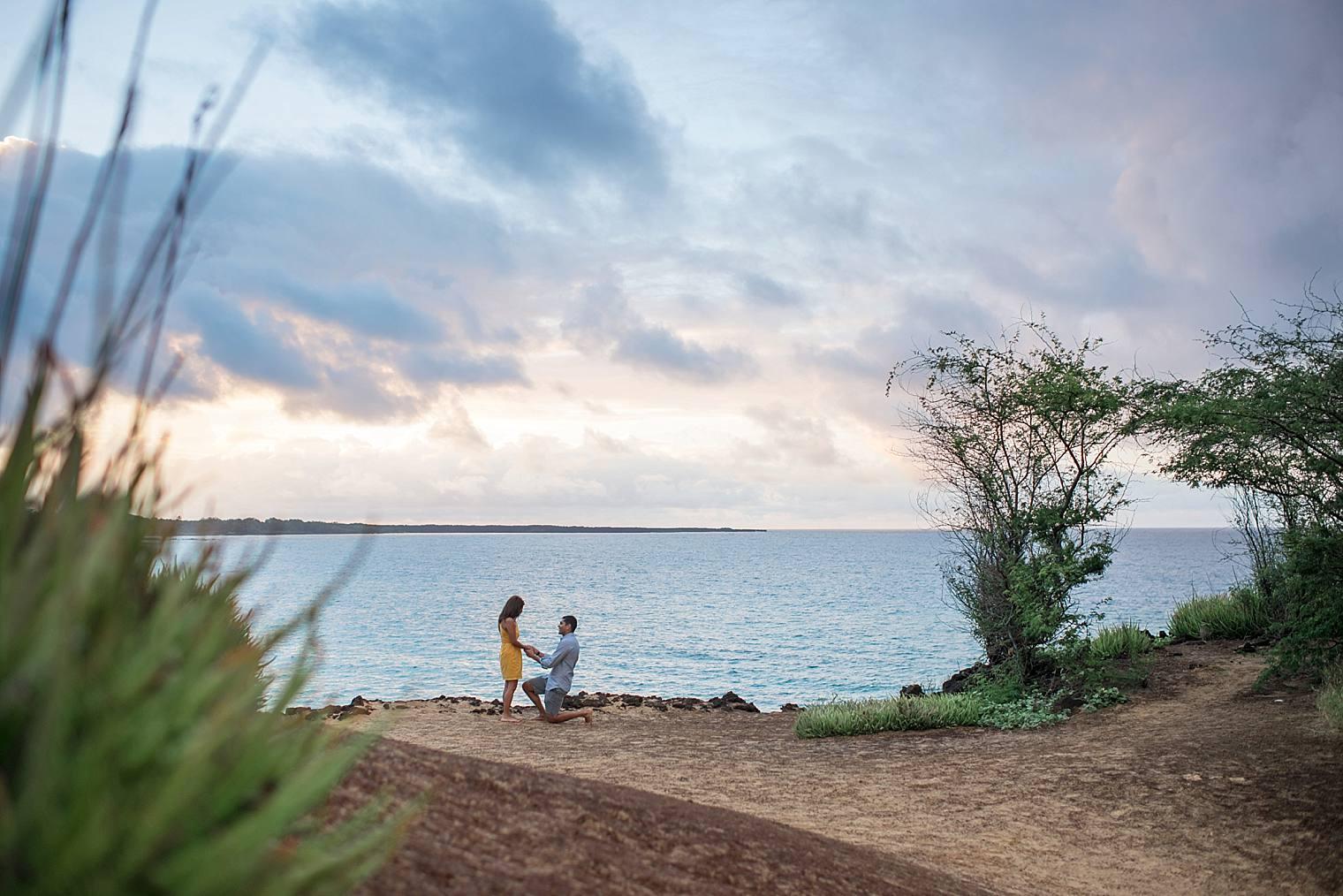 cliffside sunrise proposal in Maui_0005